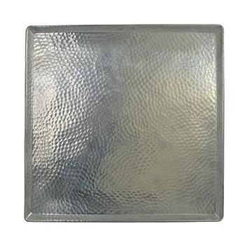 Plateau Aluminium Carré 40x40 cm